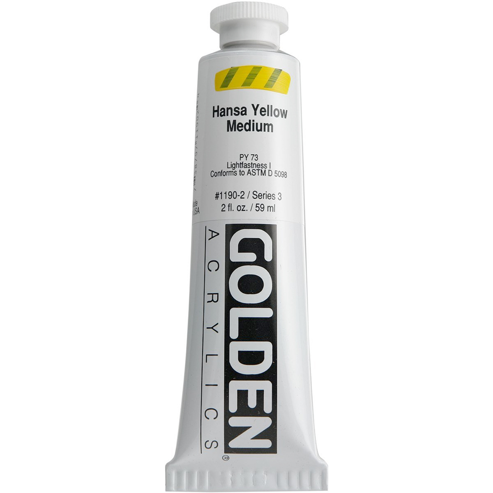 Golden Acrylic 8 Oz Hansa Yellow Medium
