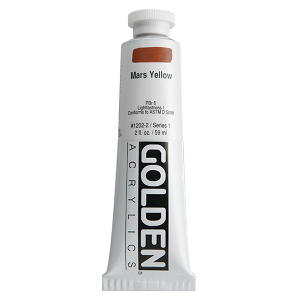 Golden Acrylic 2 Oz Mars Yellow