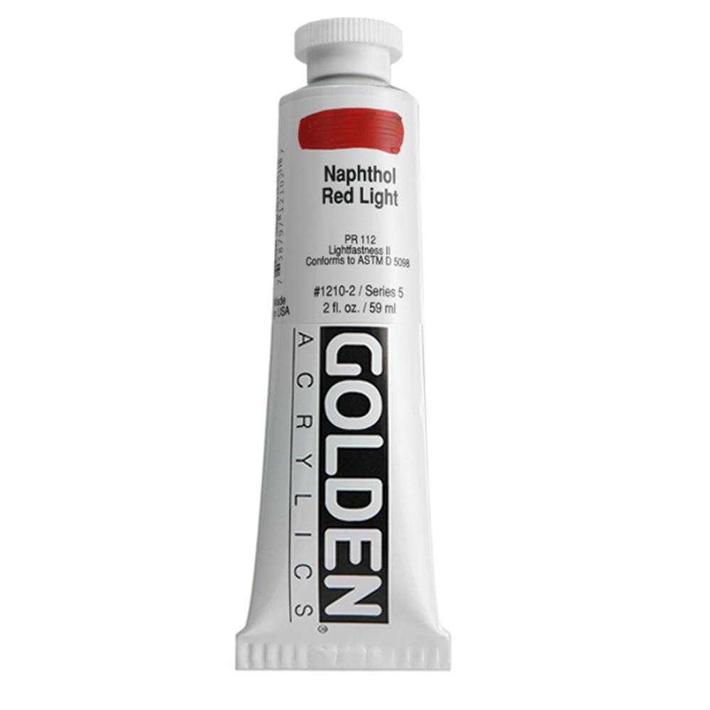 Golden Acrylic 2 Oz Naphthol Red Light