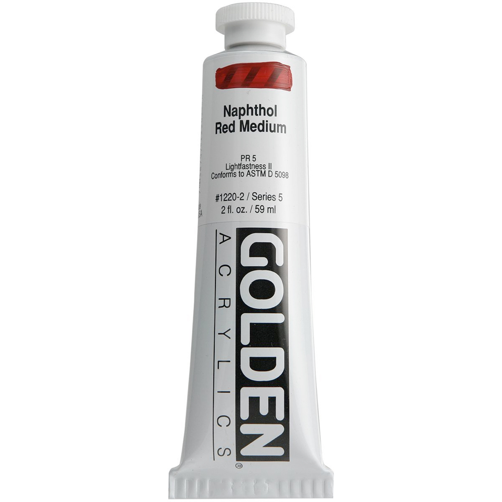 Golden Acrylic 2 Oz Naphthol Red Medium