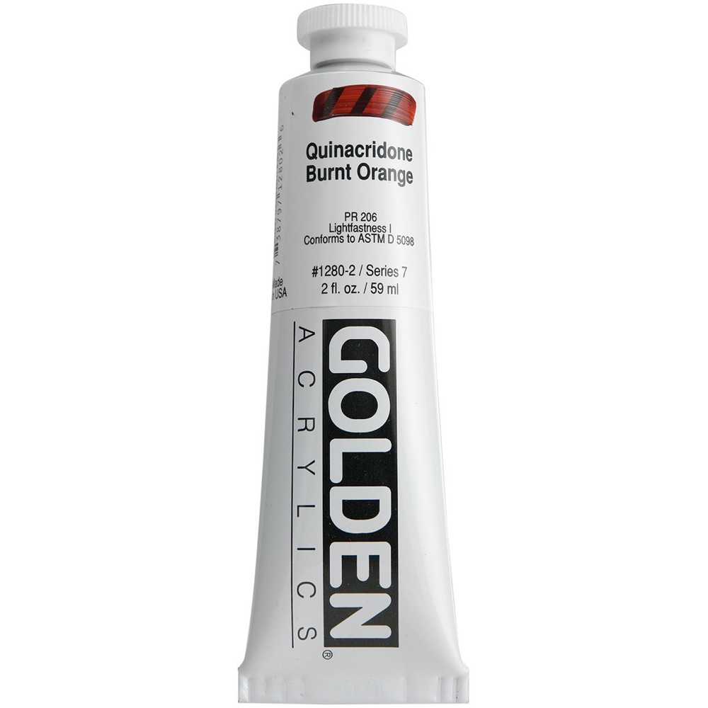 Golden Acrylic 2 Oz Quinacridone Burnt Orange