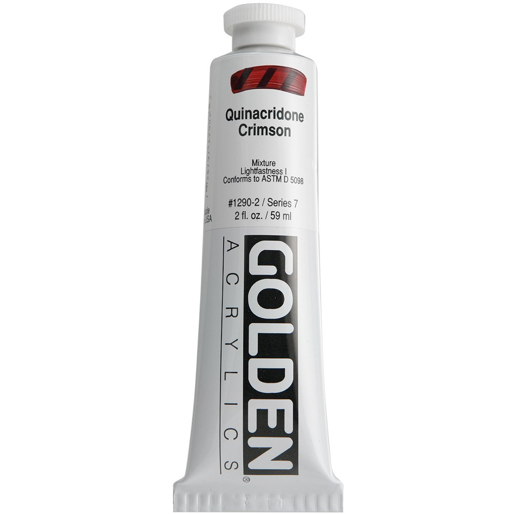 Golden Acrylic 2 Oz Quinacridone Crimson