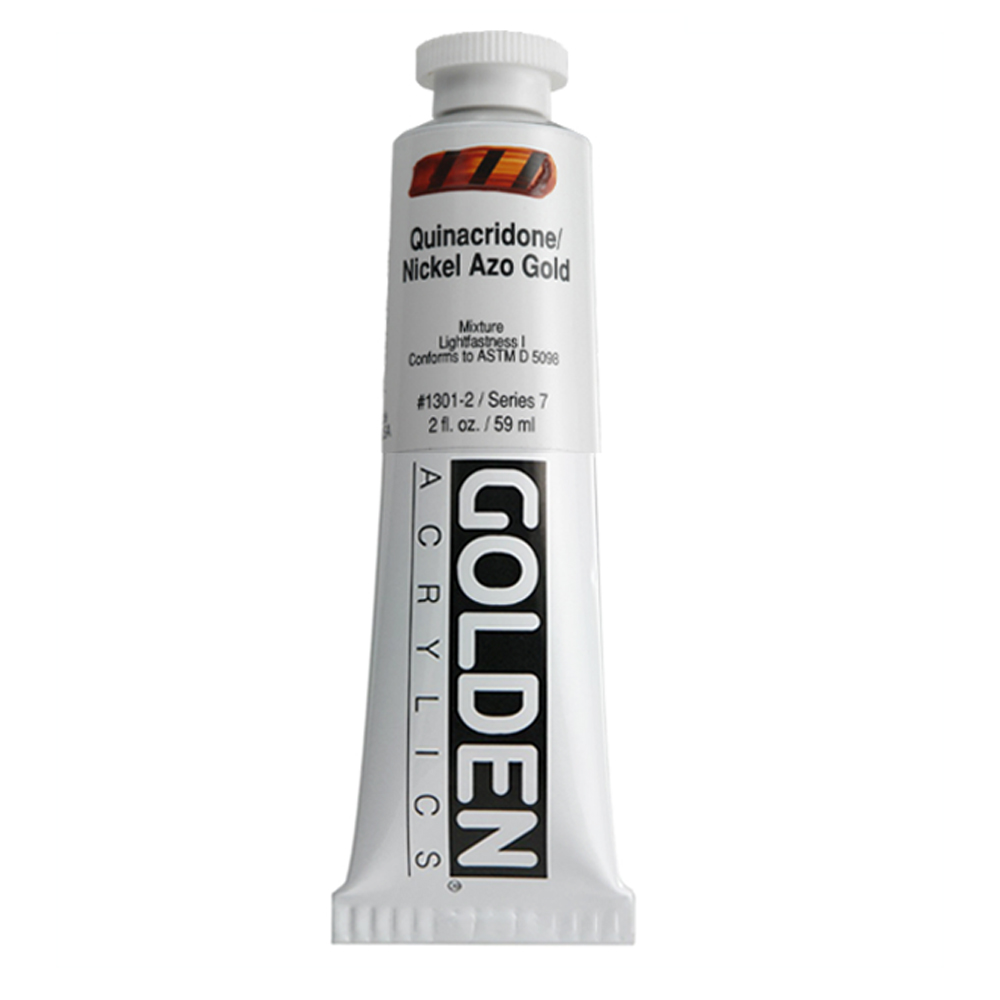 Golden Acrylic 2 Oz Quin/Nickel Azo Gold