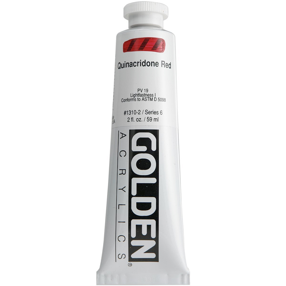 Golden Acrylic 2 Oz Quinacridone Red