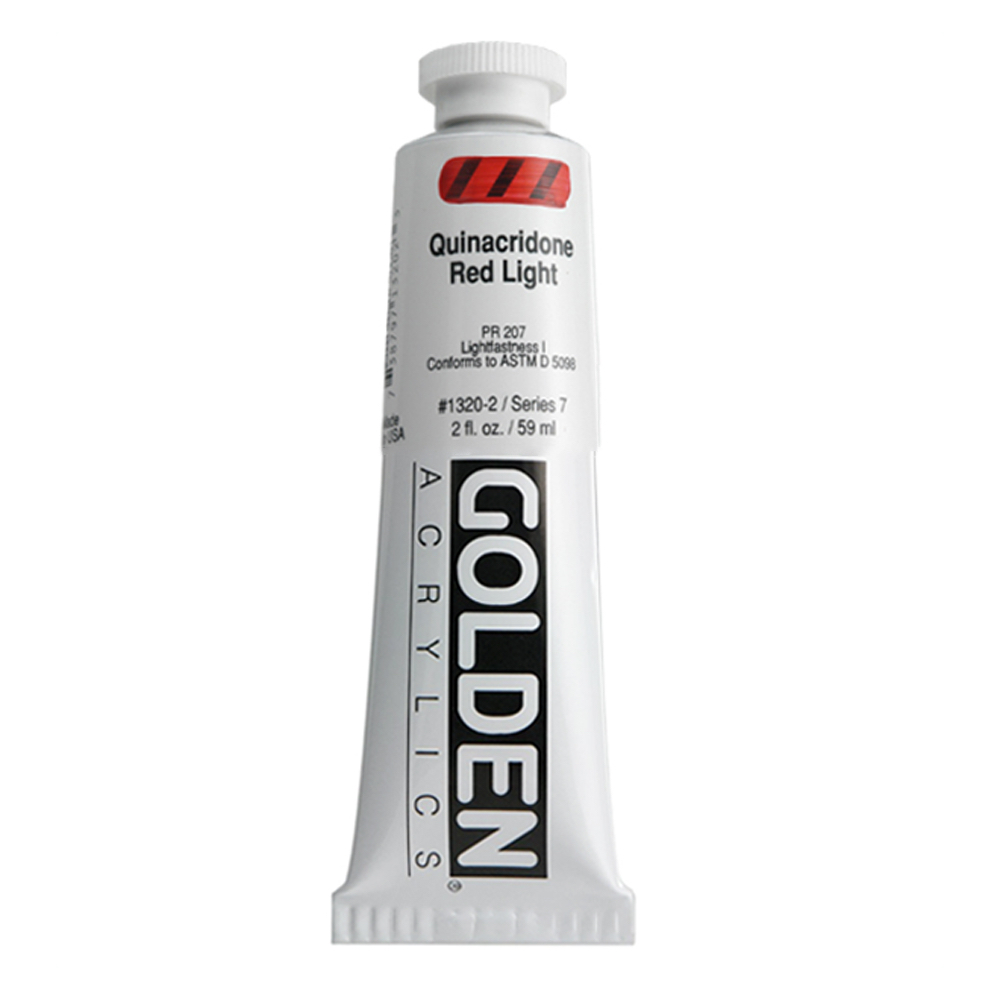 Golden Acrylic 4 Oz Quinacridone Red Lt