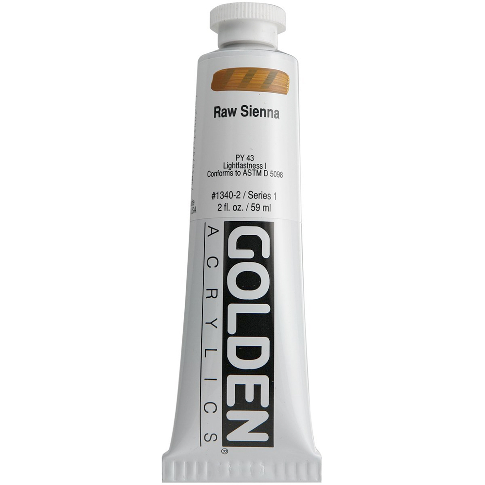 Golden Acrylic 2 Oz Raw Sienna