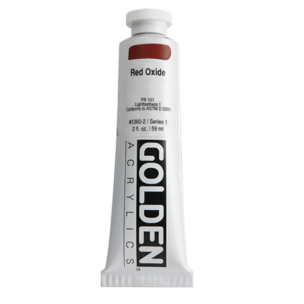 Golden Acrylic 2 Oz Red Oxide