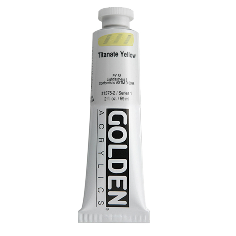 Golden Acrylic 2 Oz Titanate Yellow