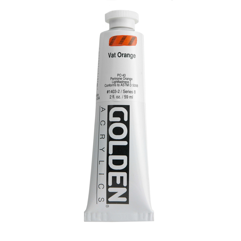 Golden Acrylic 2 Oz Vat Orange