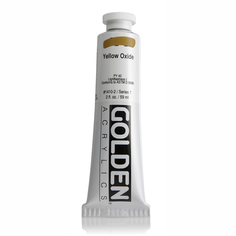 Golden Acrylic 2 Oz Yellow Oxide
