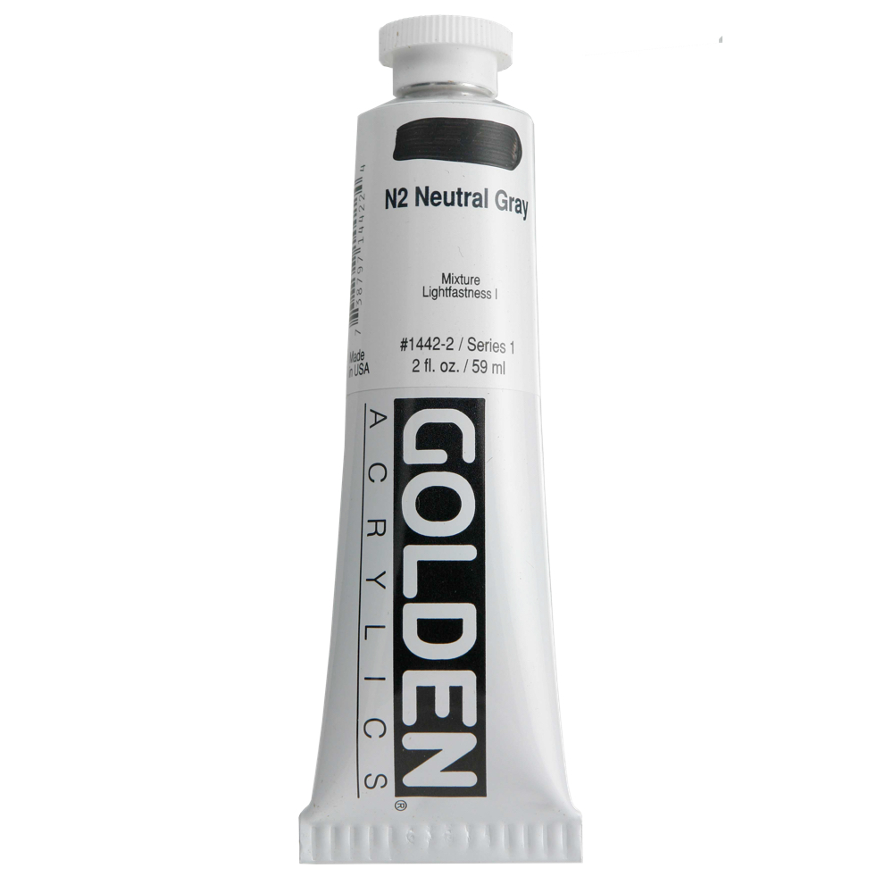 Golden Acrylic 2 Oz Neutral Gray N2