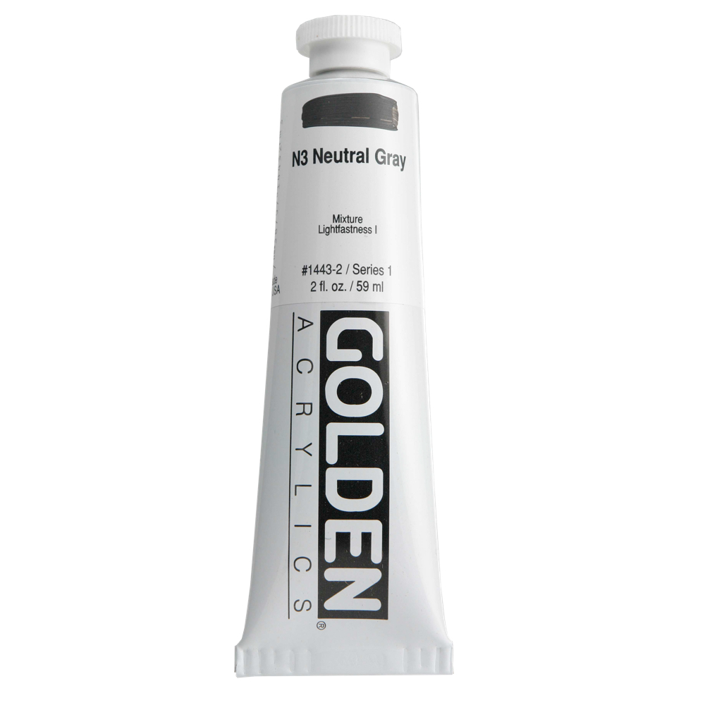 Golden Acrylic 2 Oz Neutral Gray N3