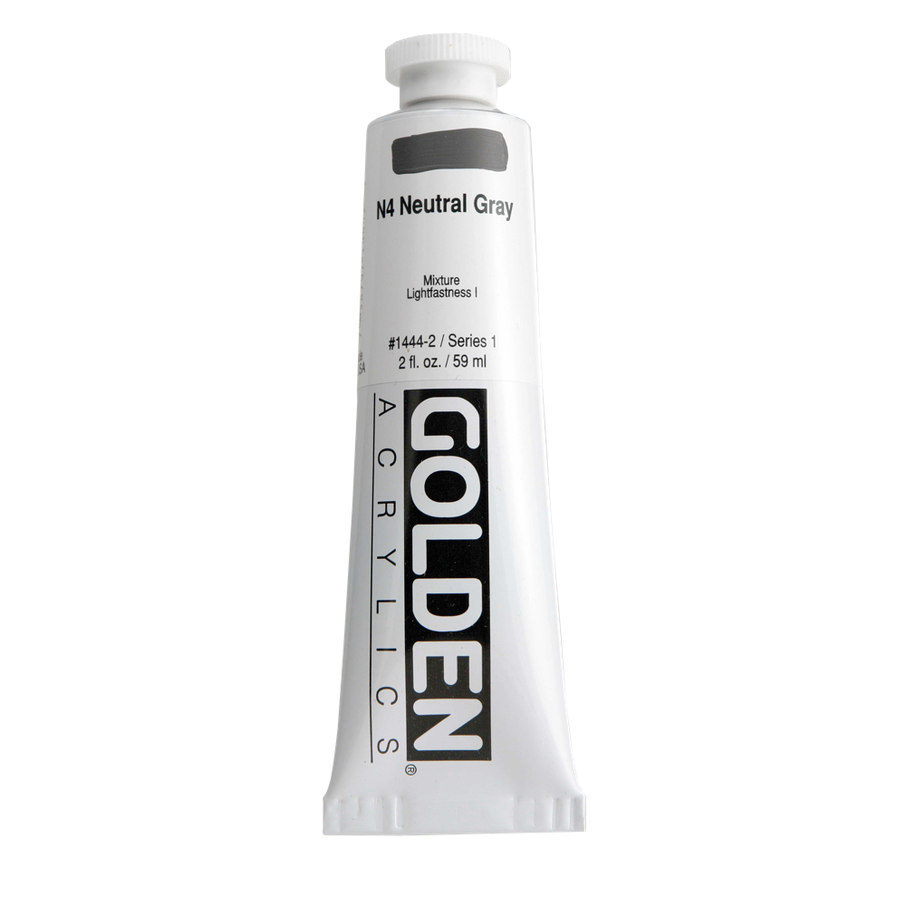 Golden Acrylic 2 Oz Neutral Gray N4