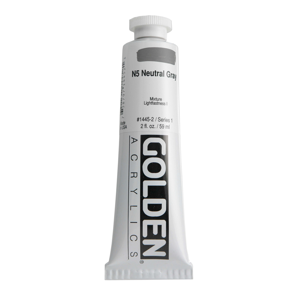 Golden Acrylic 2 Oz Neutral Gray N5