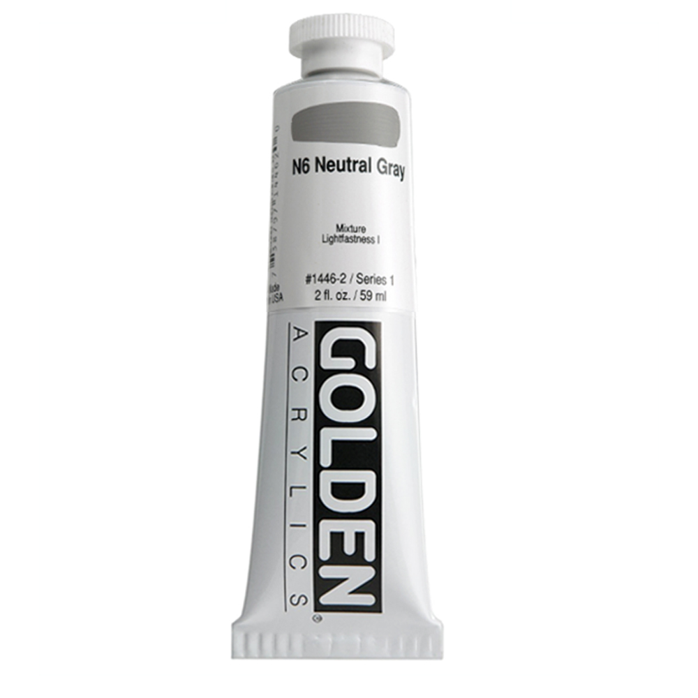 Golden Acrylic 2 Oz Neutral Gray N6