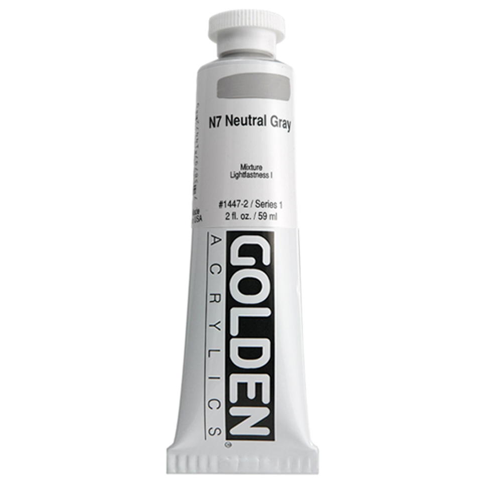 Golden Acrylic 2 Oz Neutral Gray N7