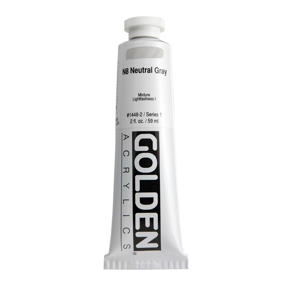 Golden Acrylic 2 Oz Neutral Gray N8