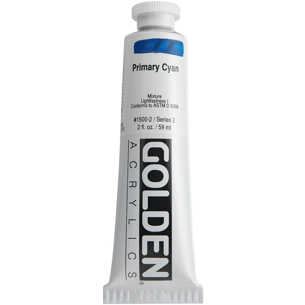 Golden Acrylic 2 Oz Primary Cyan