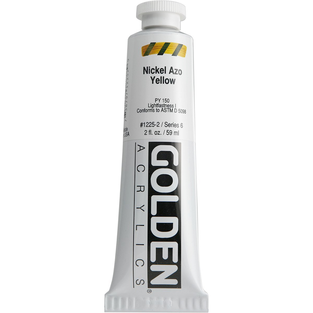 Golden Acrylic 2 Oz Nickel Azo Yellow