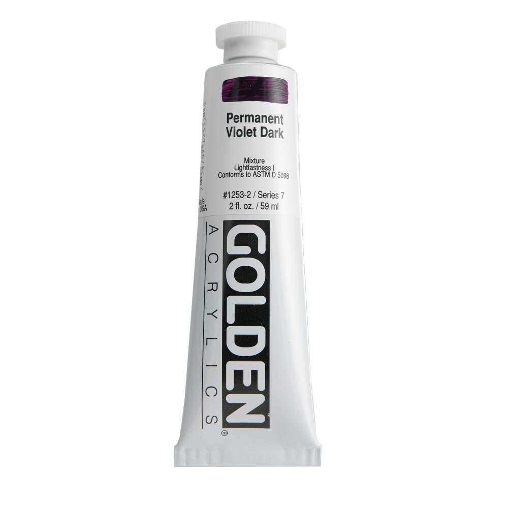 Golden Acrylic 2 Oz Perm Violet Dark