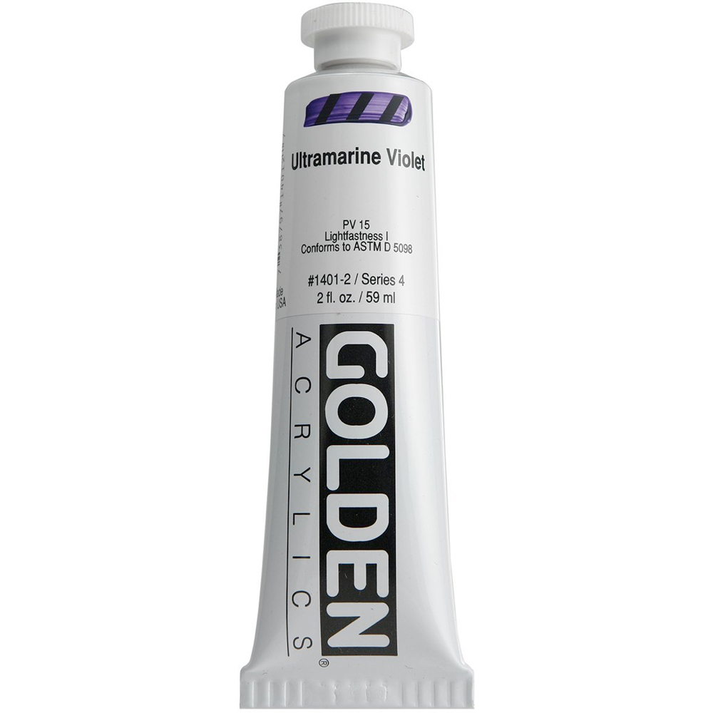 Golden Acrylic 2 Oz Ultramarine Violet