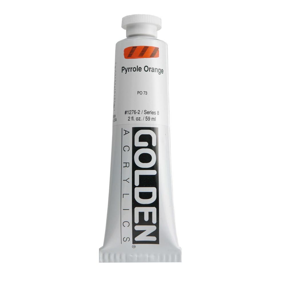 Golden Acrylic 2 Oz Pyrrole Orange