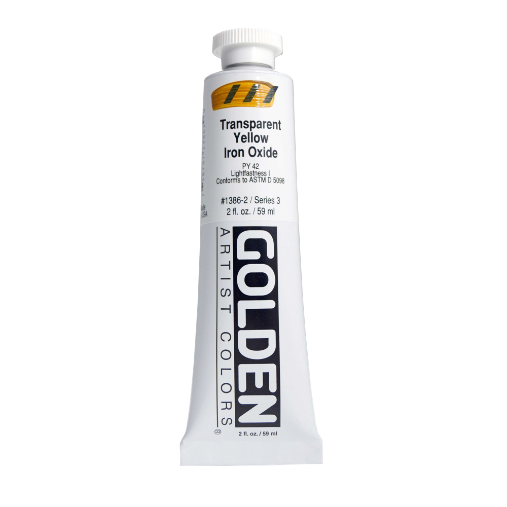 Golden Acrylic 2 Oz Trans Yellow Iron Oxide