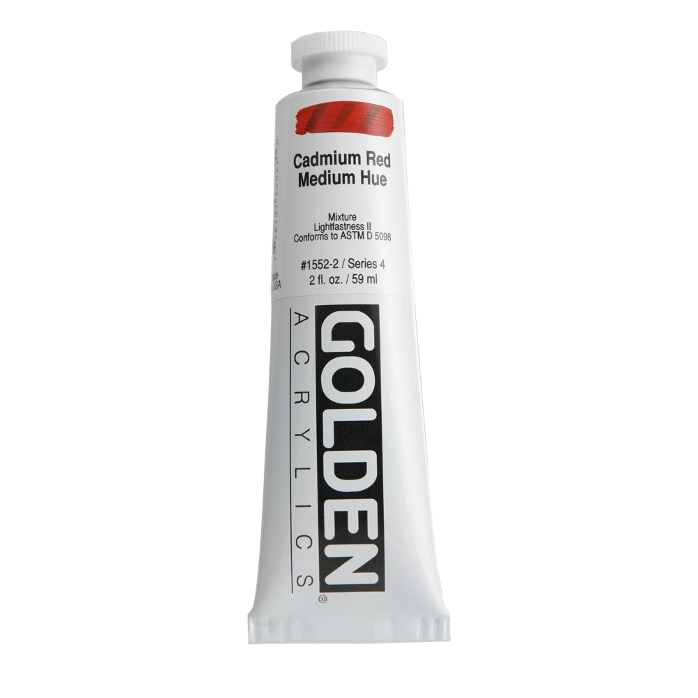 Golden Acrylic 2 Oz Cadmium Red Medium Hue