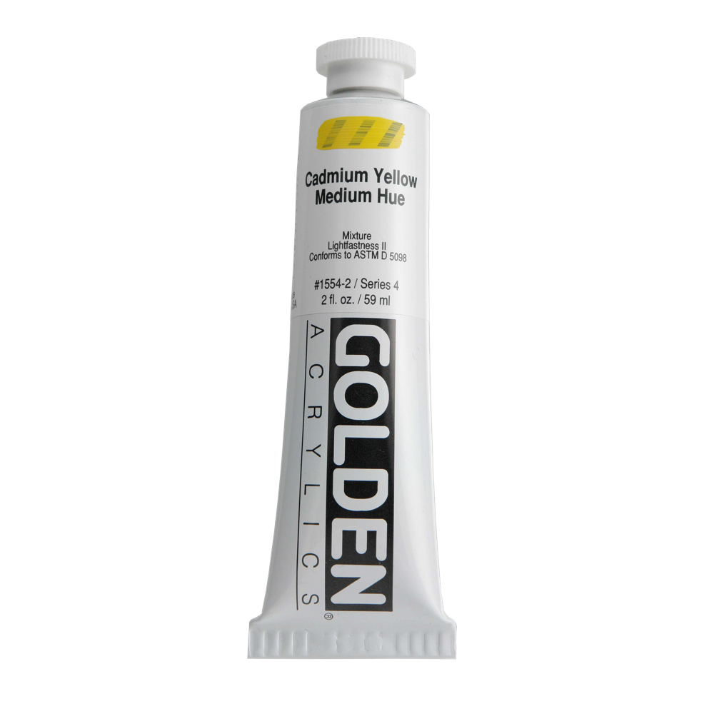 Golden Acrylic 2 Oz Cadmium Yellow Medium Hue