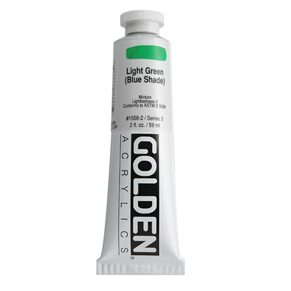 Golden Acrylic 2 Oz Light Green Blue Shade
