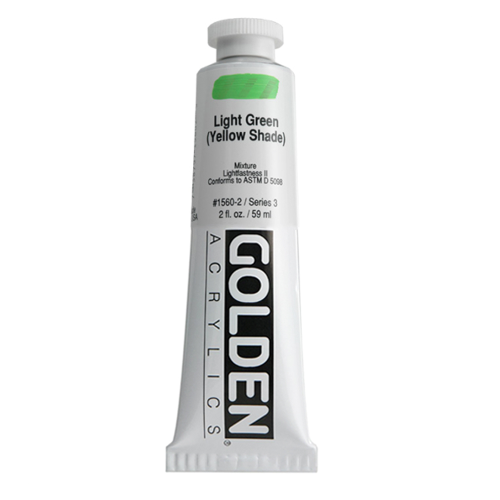 Golden Acrylic 2 Oz Light Green Yellow Shade