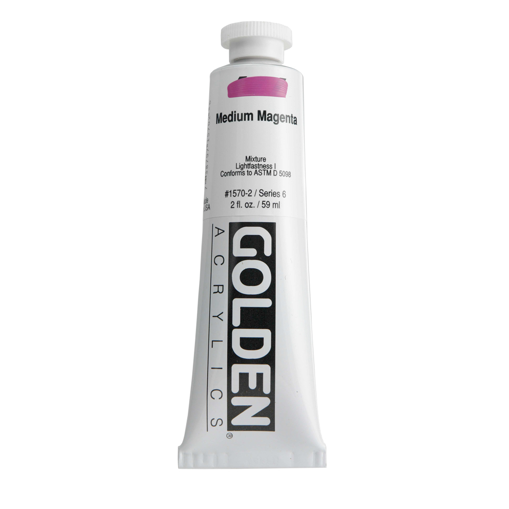 Golden Acrylic 2 Oz Medium Magenta