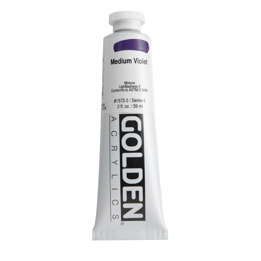 Golden Acrylic 2 Oz Medium Violet