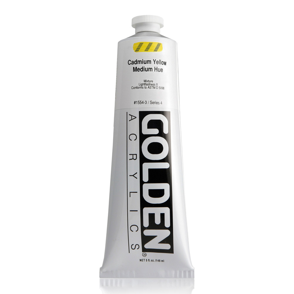 Golden Acrylic 5 Oz Cadmium Yell Med Hue