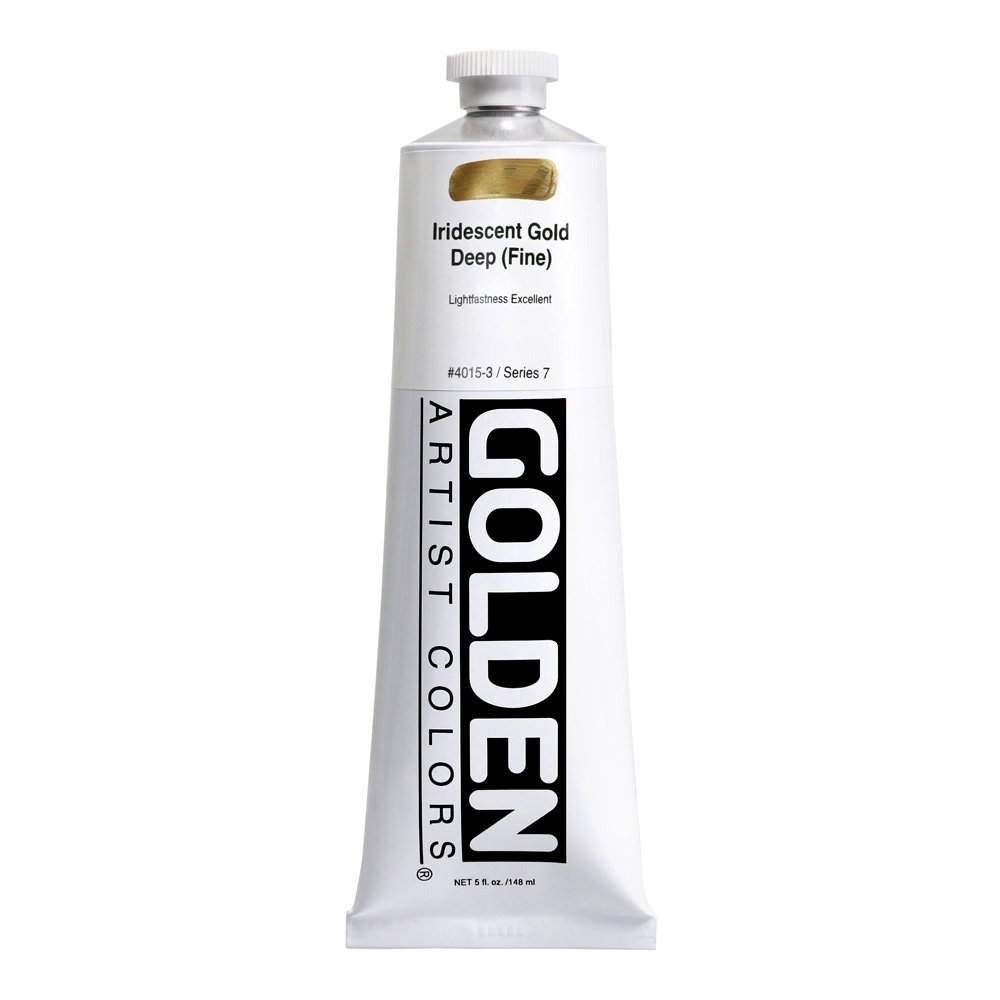 Golden Acrylic 5 Oz Irid Gold Deep Fine