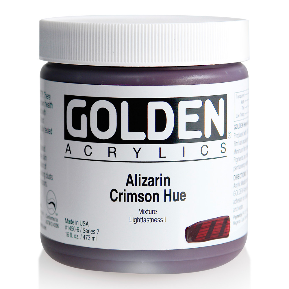 Golden Acrylic 16 Oz Alizarin Crimson