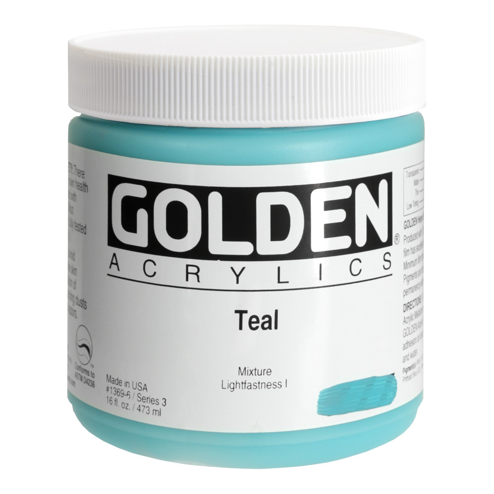 Golden Acrylic 16 Oz Teal