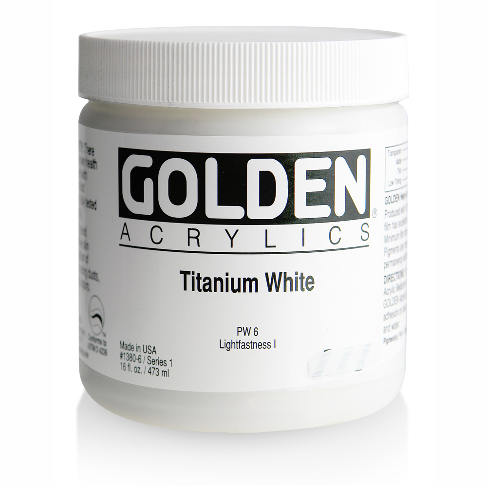 Golden Acrylic 16 Oz Titanium White