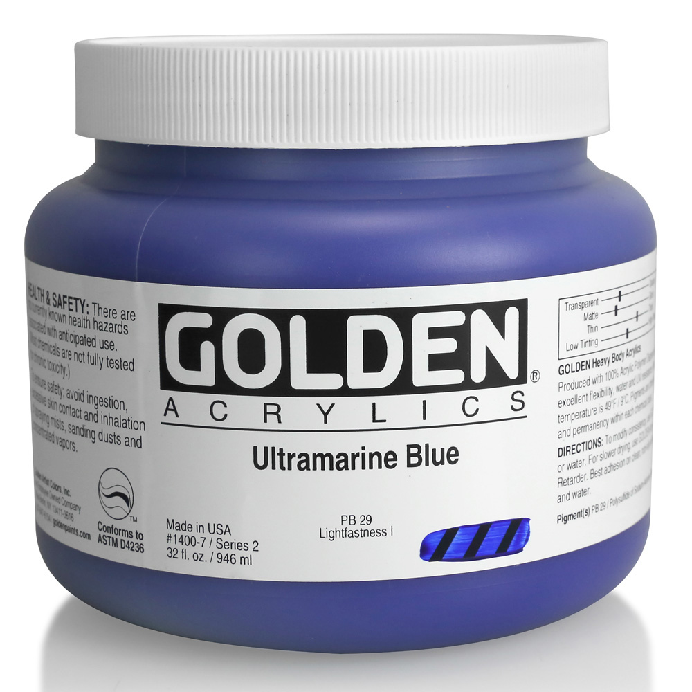 Golden Acrylic 32 Oz Ultramarine Blue