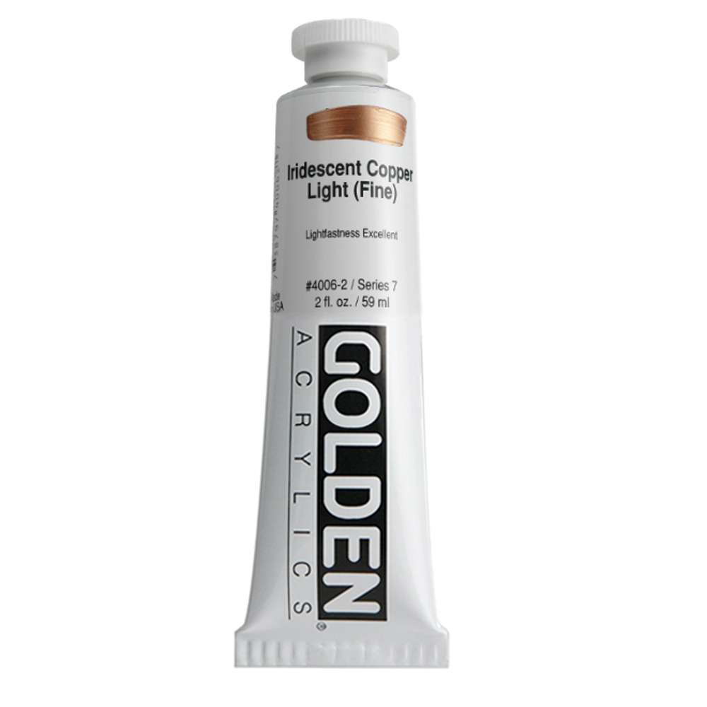 Golden Acrylic 2 Oz Iridesnt Copper Lt Fine