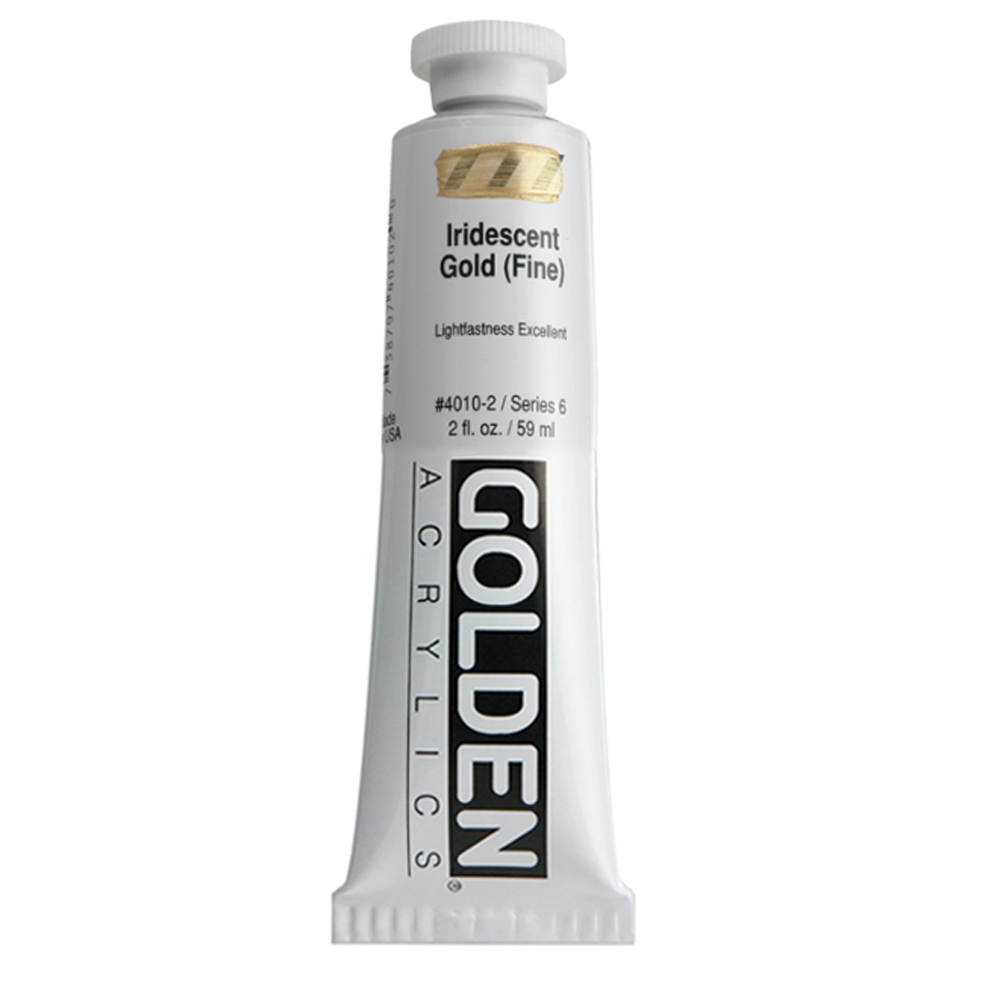 Golden Acrylic 2 Oz Iridescent Gold (fine)