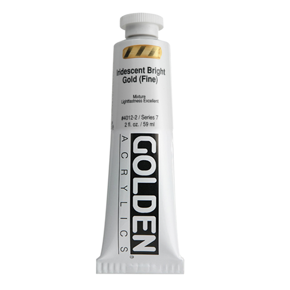 Golden Acrylic 2 Oz Iridesnt Gold Brt (fine)