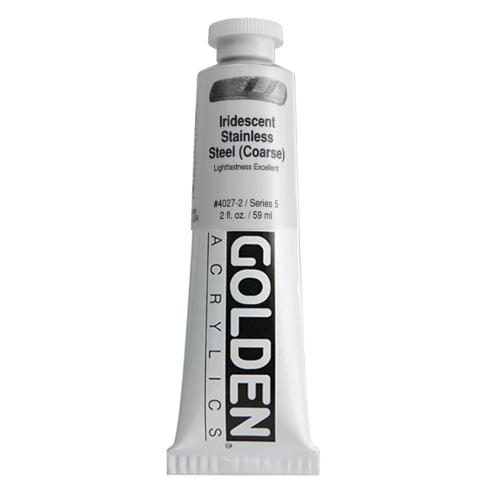 Golden Acrylic 2 Oz Irid Stnls Steel (coarse)