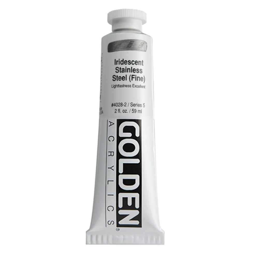 Golden Acrylic 2 Oz Irid Stainless Steel Fine