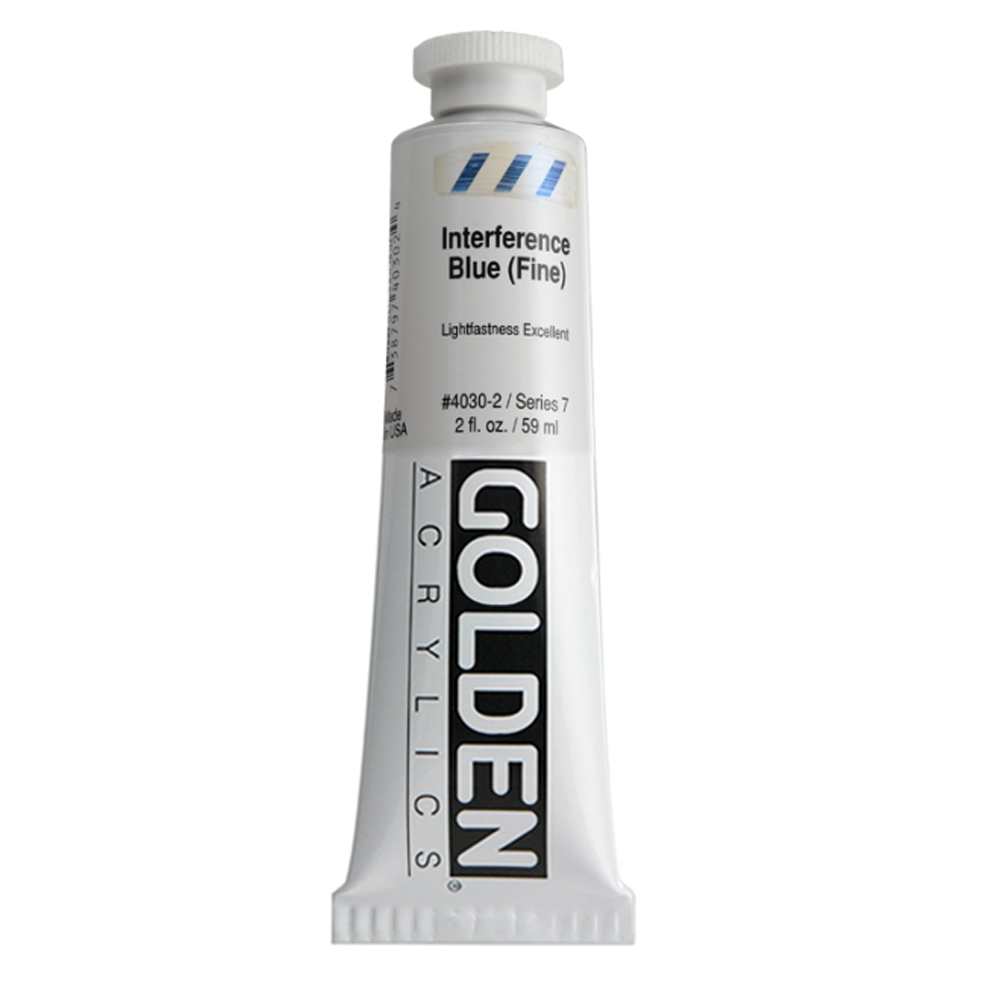 Golden Acrylic 2 Oz Interference Blue Fine