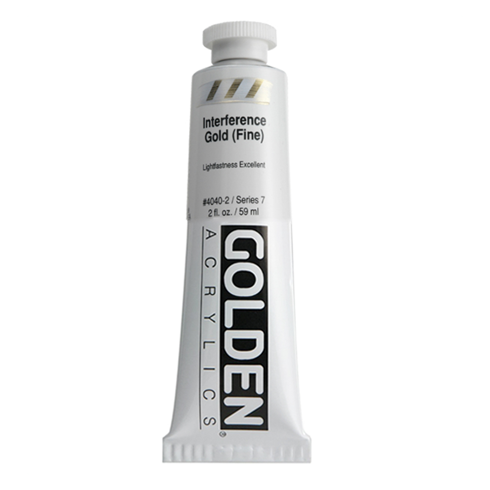Golden Acrylic 2 Oz Interfernce Gold (fine)