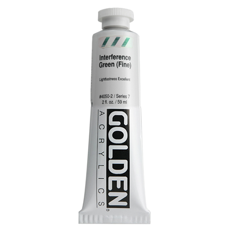 Golden Acrylic 2 Oz Interference Green Fine