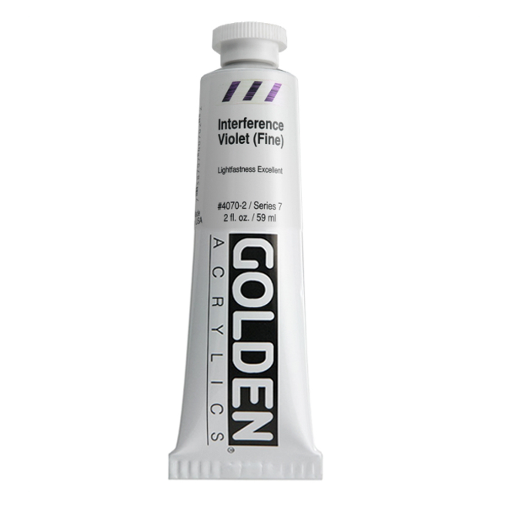 Golden Acrylic 2 Oz Interference Violet Fine