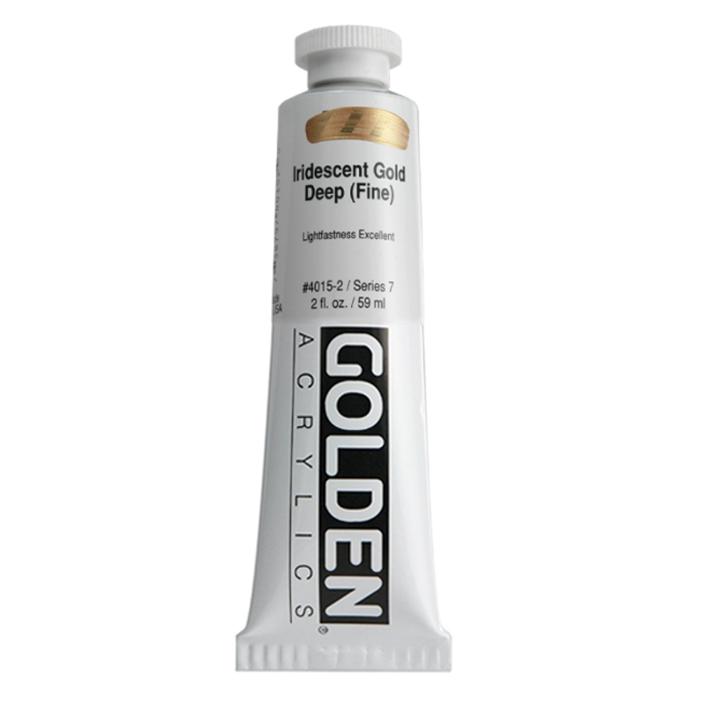 Golden Acrylic 2 Oz Iridescent Gold Deep Fine