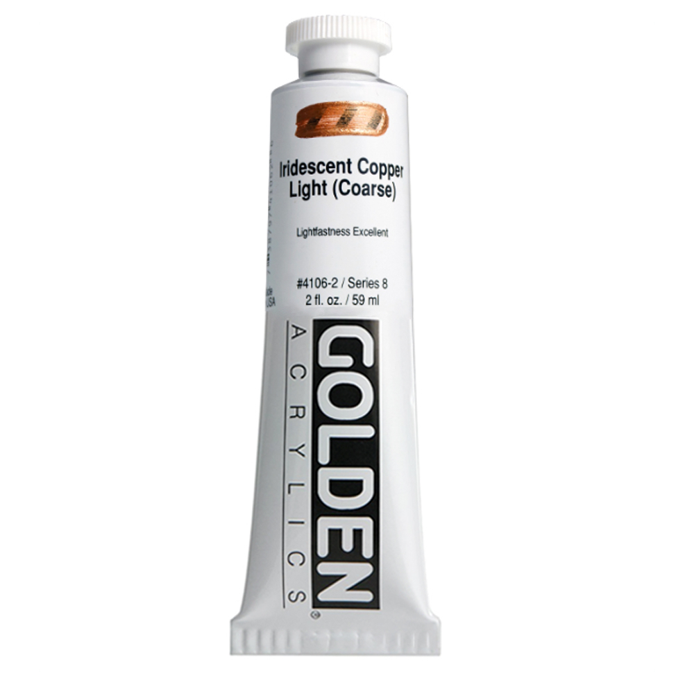 Golden Acryl 2 Oz Irid Copper Light (coarse)